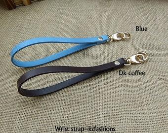2 PCS, Faux Leather/ PU Leather Strap Handle Wrist Tote for Bag Purse Wallet