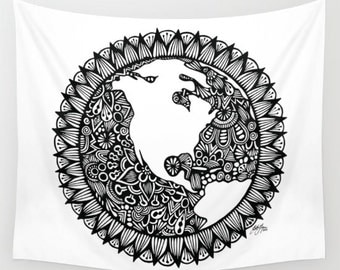 Zentangle - World Wall Tapestry
