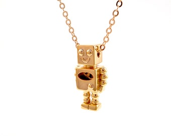 Robot Pendant 18K Gold Plated