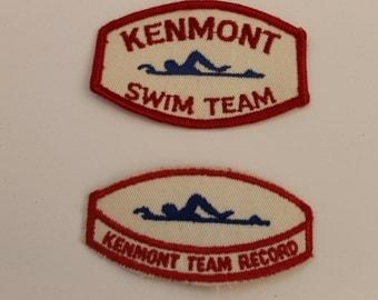 Vintage Kenmont Swim Team Patches (2)