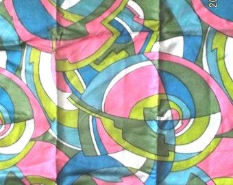 Retro Schwartz Lieman textile fabric Pucci inspired print 2+yds~