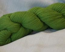 200g Kauni Grass GREEN 100%  Quality PURE Lambswool yarn  for hand and machine knitting. Made in Estonia