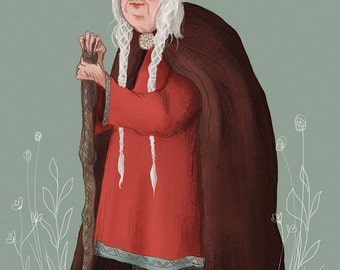 Wise Old Woman Postcard