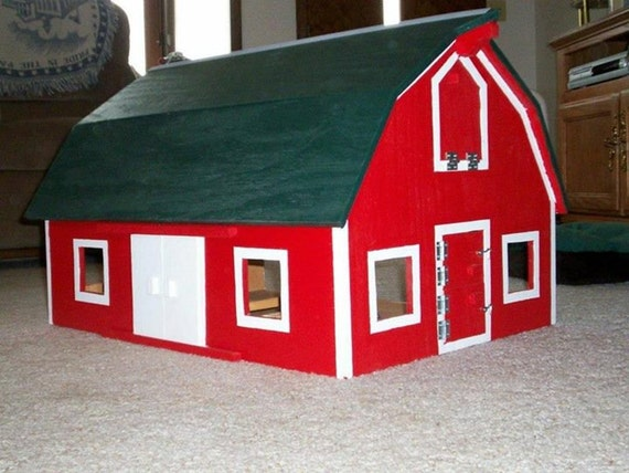 Items similar to Hip Roofed Open Sided Barn on Etsy