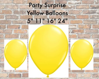 "Yellow Balloons 5"" 11"" 16"", yellow balloons Disney colors balloons Kids Birthday Shower Party Mickey Minnie Bumblebee Garden Balloon"