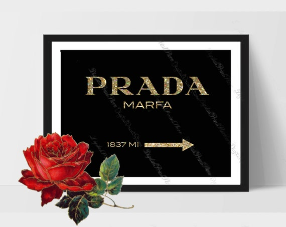 prada marfa print 01 prada glitter wall prada logo fashion. Black Bedroom Furniture Sets. Home Design Ideas