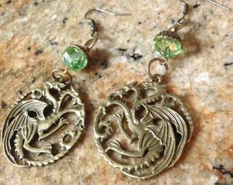 Targaryen House Crest Earrings