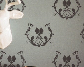 Decorative Damask Stencil For Wall Painting - Classic Pattern Stencil - Reusable Wall Stencil