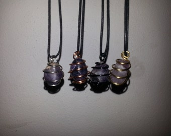 Amethyst Wire Wrapped Pendant