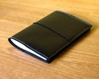 Moleskine cover, Refillable journal, Faux leather journal, Pocket size cover, Vegan refillable notebook, Vegan journal, Vegan cover