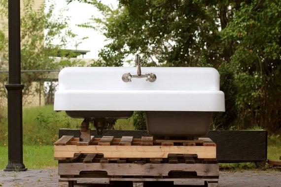Refinished 1929 Antique 52 Farm Sink Depression Era