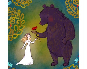 Love of a Beast // Beauty and the Beast Inspired Fairy Tale Art