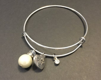 Adjustable Charm Bracelet-Mom