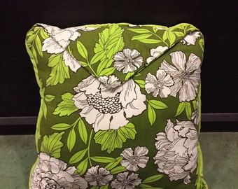 Vintage Envelop Fold Floral Plush Pillow