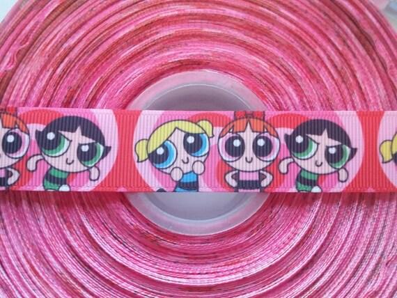 "POWER PUFF GIRLS Inspired 7/8"" Grosgrain Hair Bow Craft Ribbon 782582"
