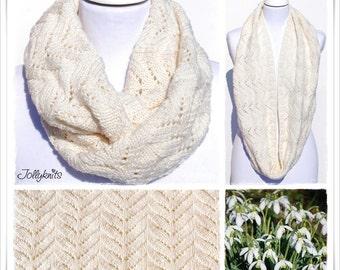 Knitting Pattern Cowl Snowdrops