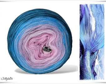 Gradient Yarn Merino Mermaid 750m