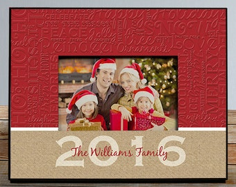 Personalized Christmas Frame, Family Christmas Frame
