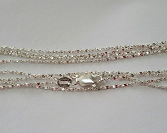"Sterling Silver, Serpentine Chain, 30"", .925,  with Lobster Clasp, Pendant, Necklace, Chain, Jewelry, Bead, Beading, Supply"