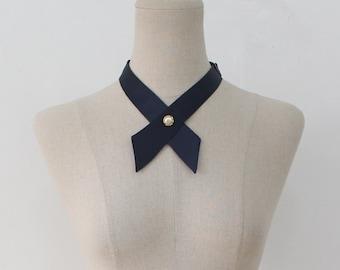 FREE SHIPPING,Navy crosstie,necktie,Navy neck tie for woman,wedding