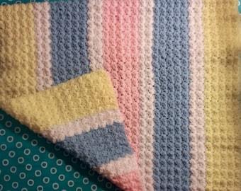 Crochet Multi-Color Blanket