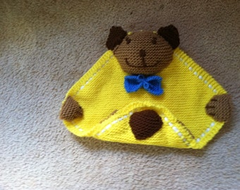 Small teddy bear blankie for baby or toddler