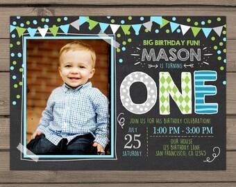 11th Birthday Invitation Eleventh Birthday Invitation Boy