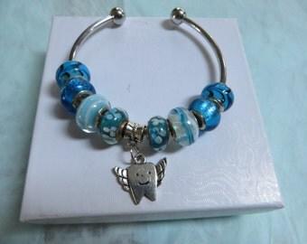 DENTAL ASSISTANT GIFT     Charm Bracelet        Tooth Fairy Bracelet   Dentist gift