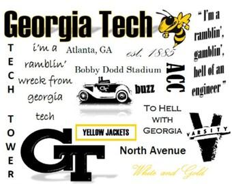 Georgia Tech Pillow