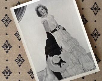 "1930s Greta Garbo original photo 5""x7"" MGM publicity photo, Swedish actress, hollywood movie star, vintage Black & White vintage photograph"