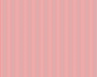 Coral Mini Stripe Fabric - By The Yard -  Boy / Girl / Gender Neutral