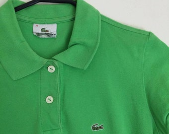 LACOSTE green polo / xsmall