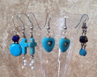 FREE SHIPPING! Turquois earrings collection!*** clearance***