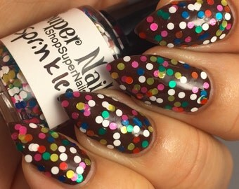 Sprinkles ~ Indie Handmade Nail Polish 5-Free Glitter Lacquer