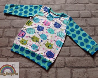 Long sleeved Cat Top age 3-4 years