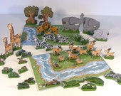 """DIY Paper Toys Cut Out Play-set """"Jungle Adventures"""""""