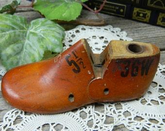 Antique Childs Wood Shoe Form - Stuart