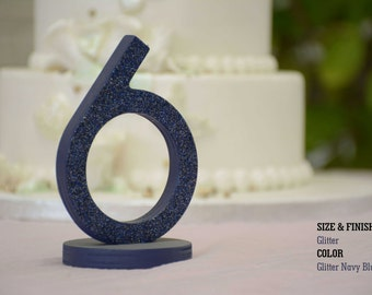 1-15 DIY Wood Table numbers, Navy Blue Wedding