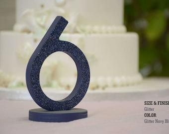 Freestanding Wooden Table Numbers, SET 1/15, Elegant Wedding Table Numbers, Gold Table Numbers, Silver Table Numbers