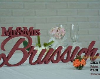 Mr & Mrs Sign, Mr and Mrs, Mr and Mrs Family Name, Sign For Your Sweetheart Table