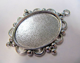 Cabochon Blanks, 30X 40 MM, Oval, Base Metal, Pendant Blanks, Great For Lapidary People, #4030C