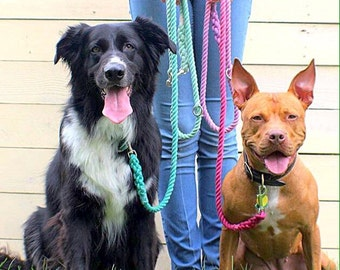 Convertible Dog Leash, Dog Leash, Hands-Free Dog Leash, Gradient Dyed Dog Leash, Rope Dog Leash, Adjustable Leash