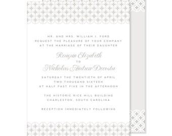 Romantic Wedding Invitation | Sophisticated Wedding Invitation | DIY Option Available | Invitation | RSVP | Info Card #2