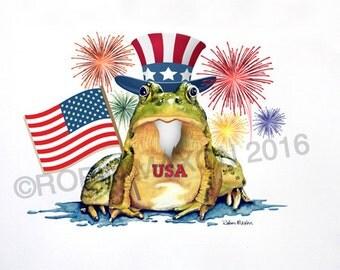 Patriotic Frog Etsy