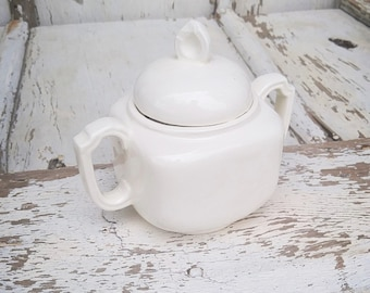 Vintage Cream Sugar Bowl with Lid