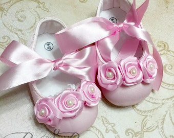 Pink Rostte Baby Girl Shoes