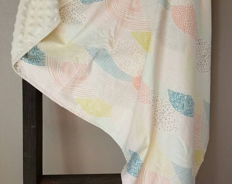 Pastel Multi-Colored Minky Blanket
