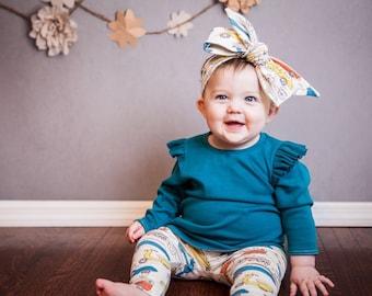 Organic Baby Leggings, Car Leggings, Organic Knit Leggings, Soft Baby Leggings Cream Leggings