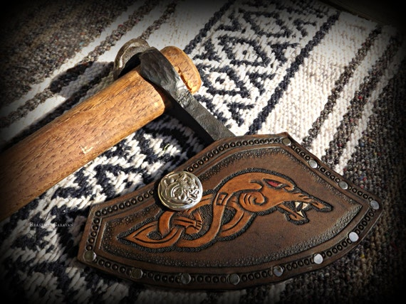 Custom Axe Sheath - Cold Steel Axe - Viking Norse Bushcraft