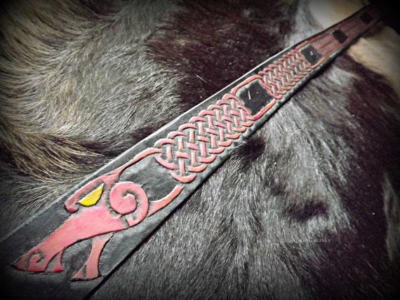 Norse Double Knotwork Dragon Viking Belt